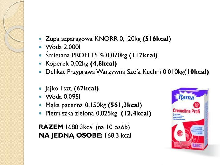 Zupa szparagowa KNORR 0,120kg