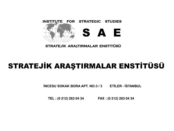 INSTITUTE     FOR     STRATEGIC     STUDIES