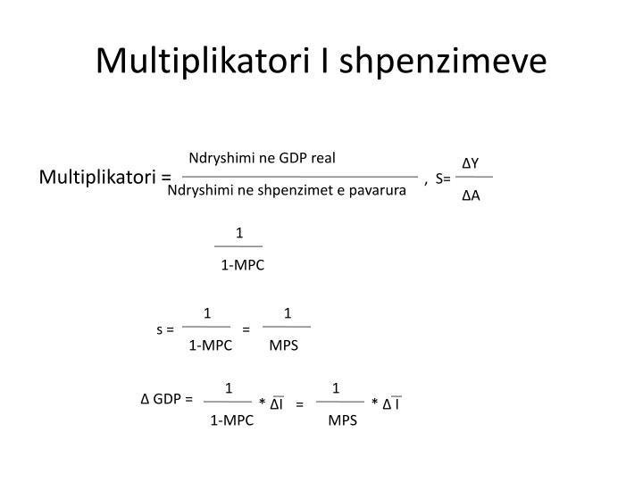 Multiplikatori I shpenzimeve
