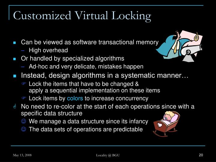 Customized Virtual Locking