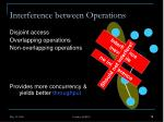 interference between operations