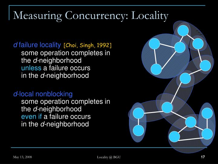 Measuring Concurrency: Locality