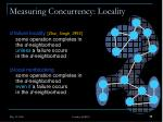 measuring concurrency locality