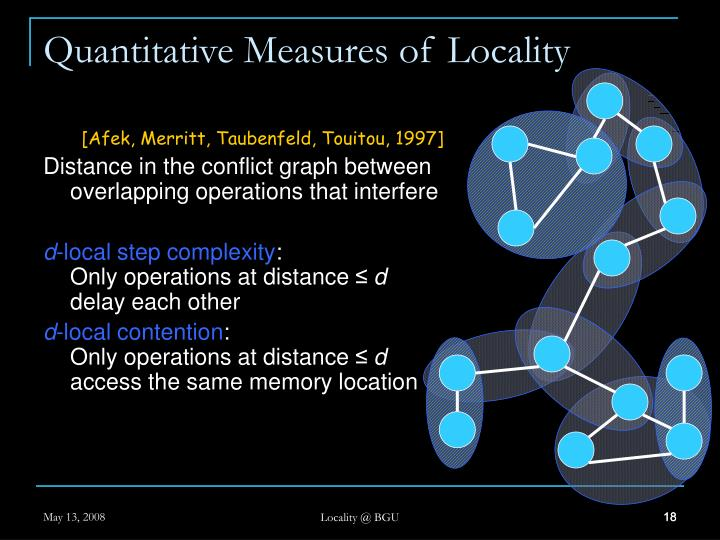 Quantitative Measures of Locality