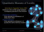 quantitative measures of locality