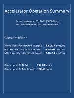 accelerator operation summary