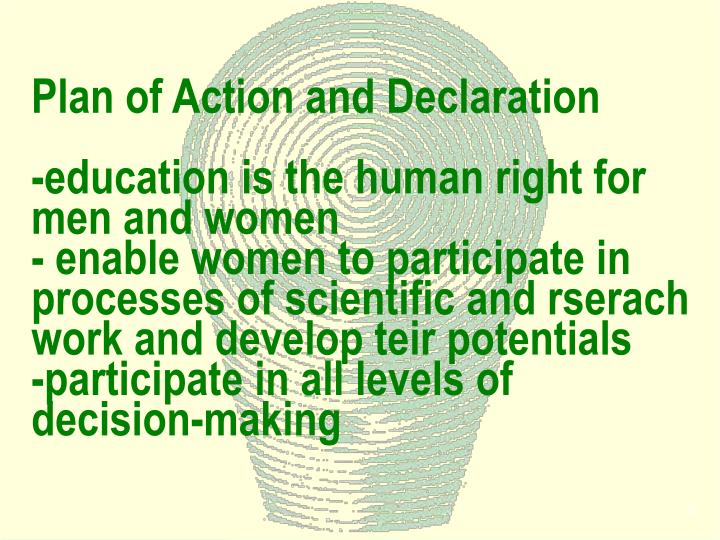 Plan of Action and Declaration