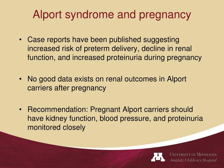 Alport syndrome and pregnancy