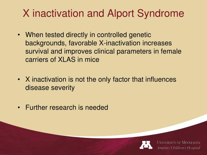 X inactivation and Alport Syndrome
