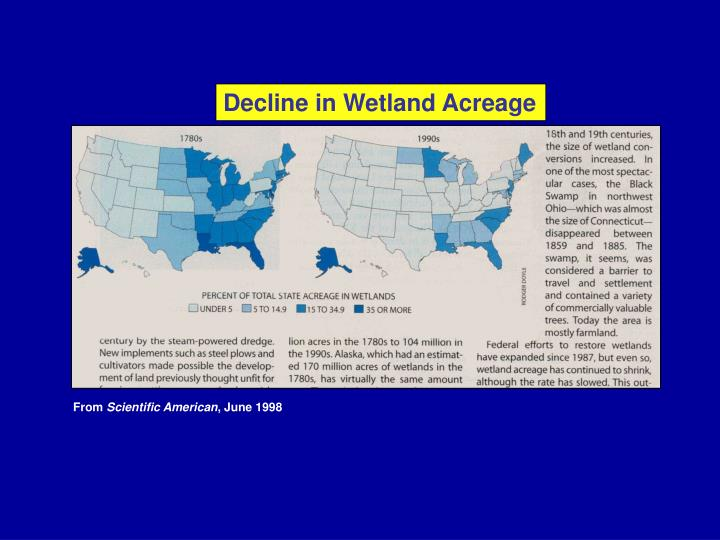 Decline in Wetland Acreage