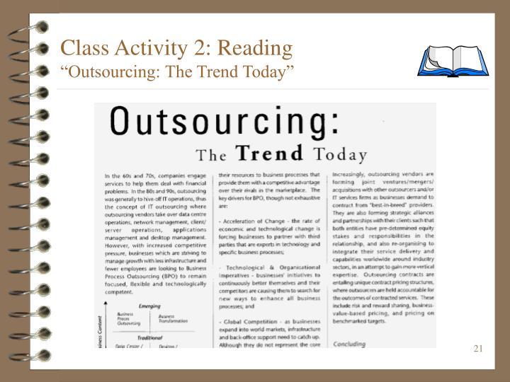 Class Activity 2: Reading