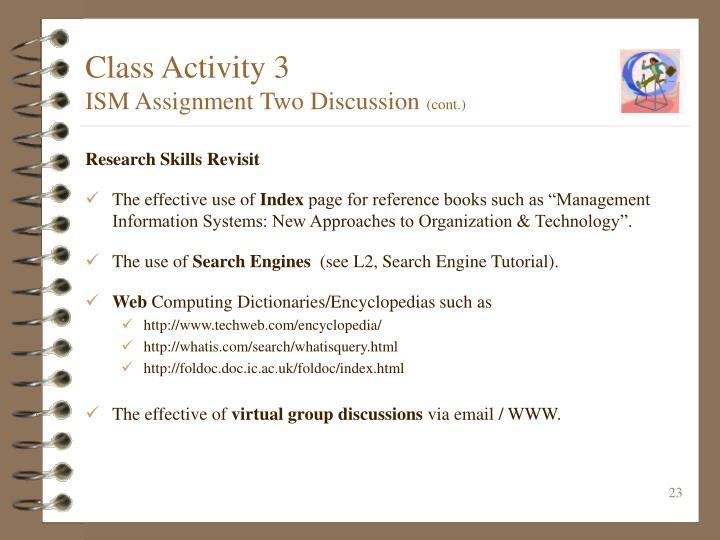 Class Activity 3