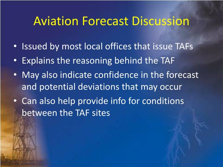 Aviation Forecast Discussion