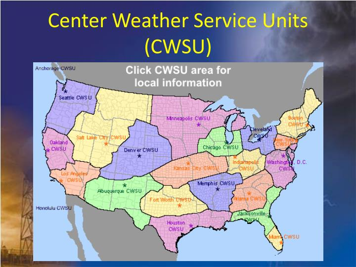 Center Weather Service Units (CWSU)