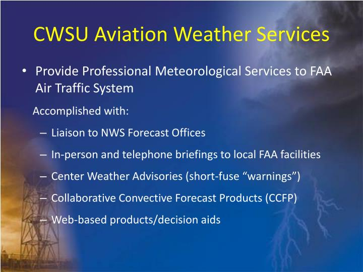 CWSU Aviation Weather Services