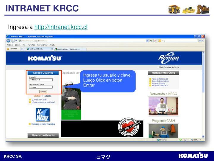 INTRANET KRCC