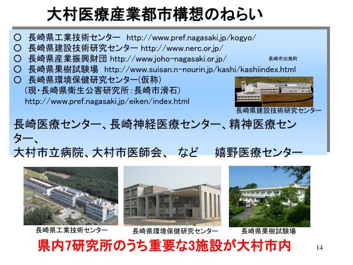大村医療産業都市構想のねらい