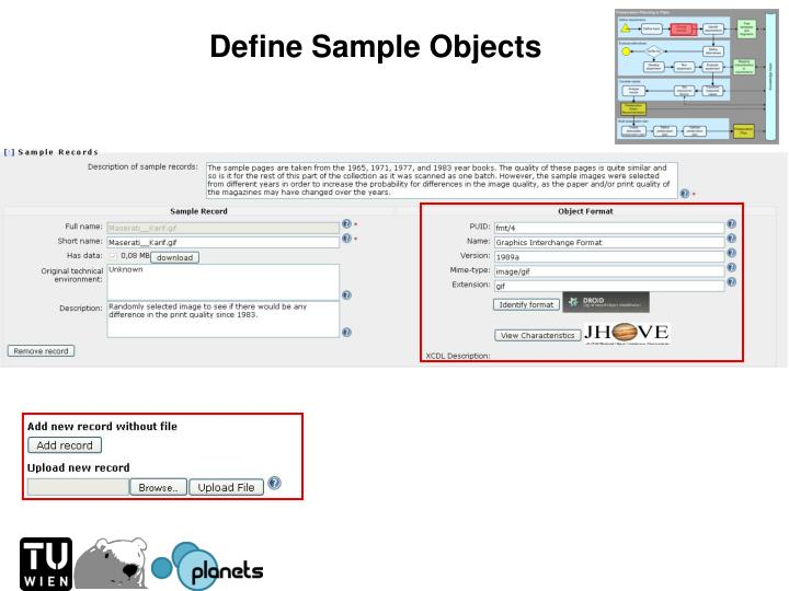 Define Sample Objects