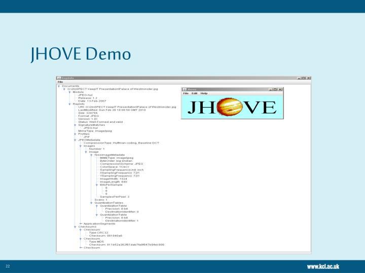 JHOVE Demo