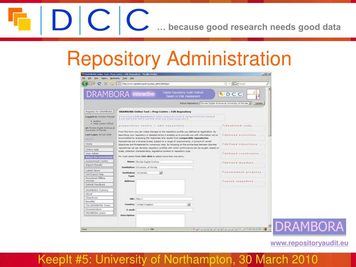 Repository Administration