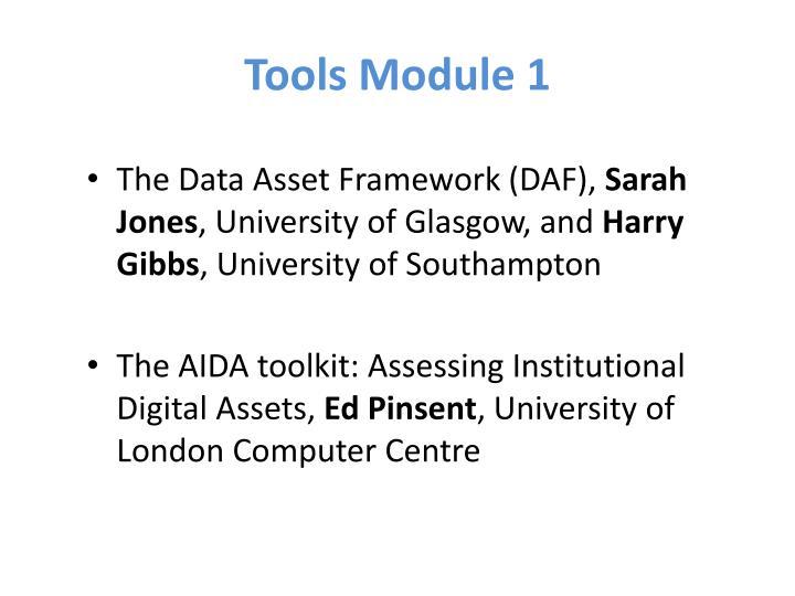 Tools Module 1