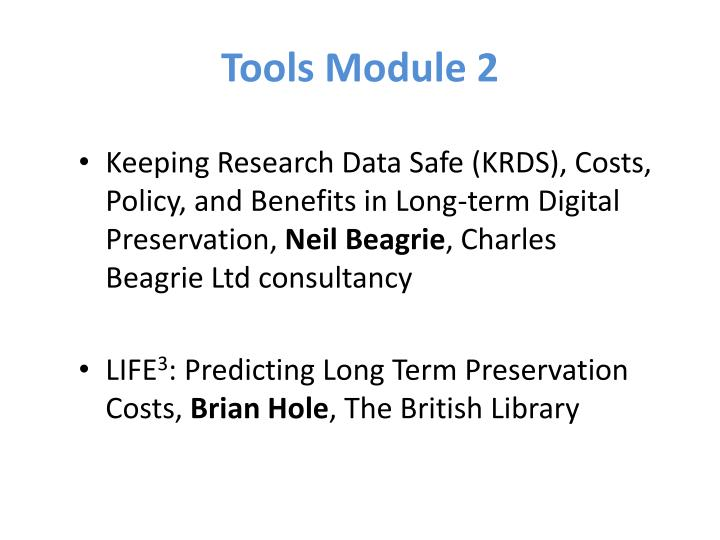Tools Module 2