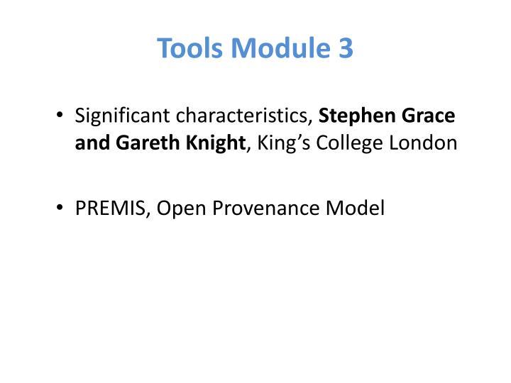 Tools Module 3