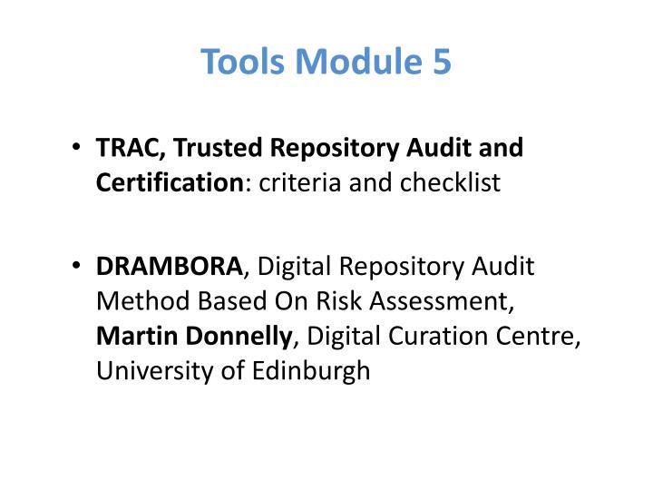 Tools Module 5