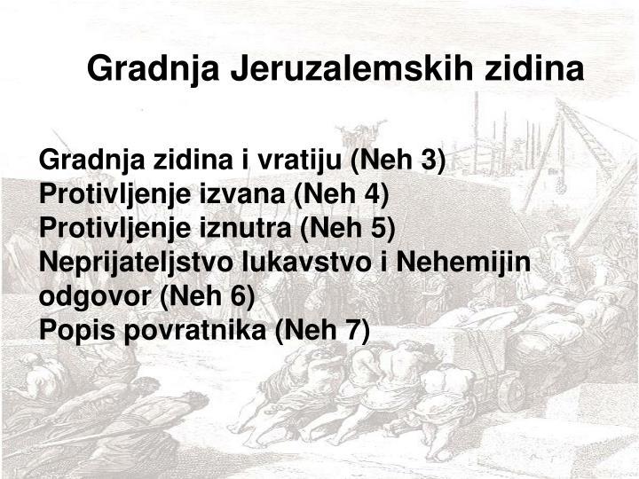 Gradnja Jeruzalemskih zidina