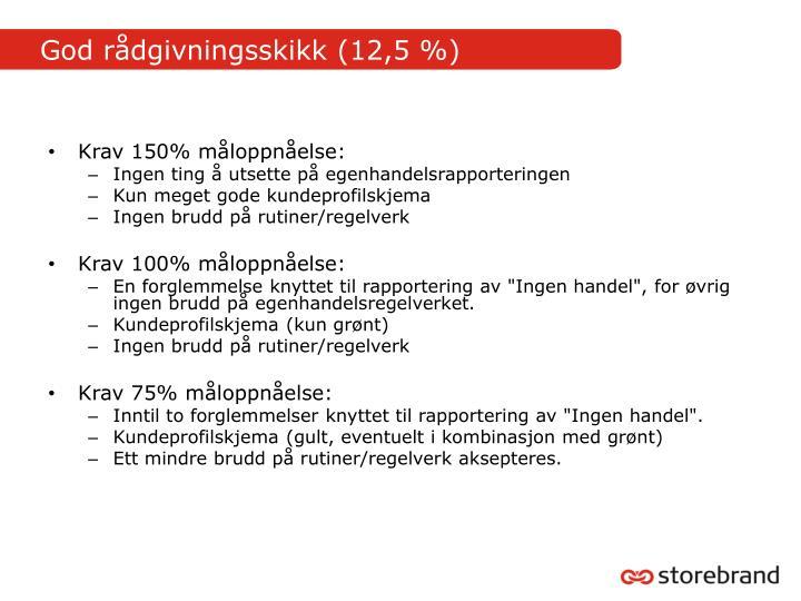 God rådgivningsskikk (12,5 %)