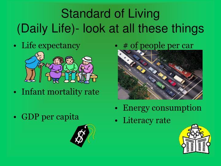 # of people per car