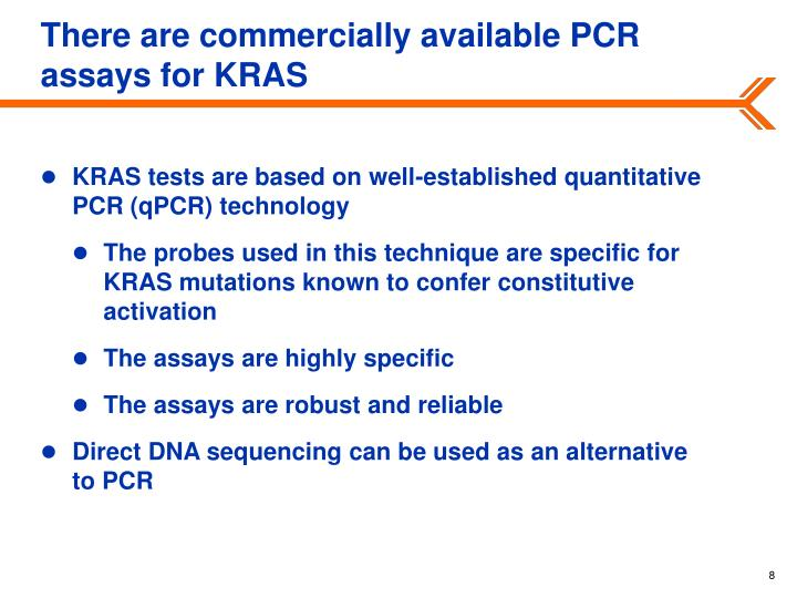 There are commercially available PCR assays for KRAS