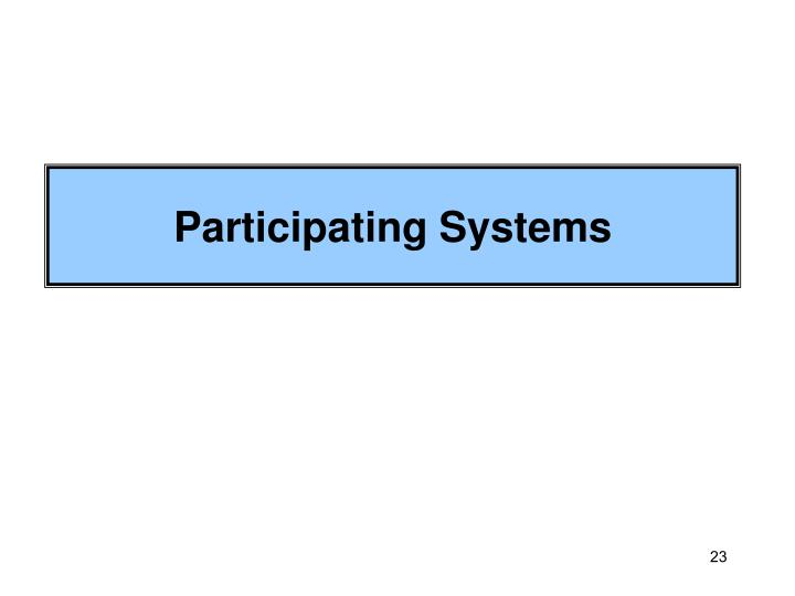 Participating Systems