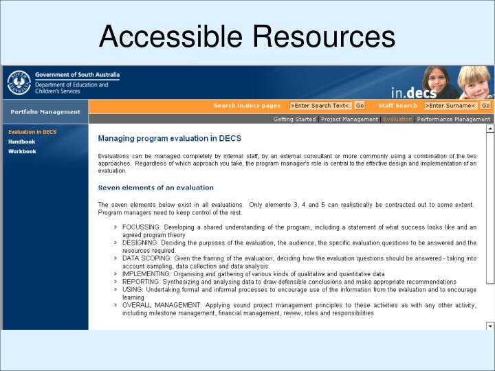 Accessible Resources
