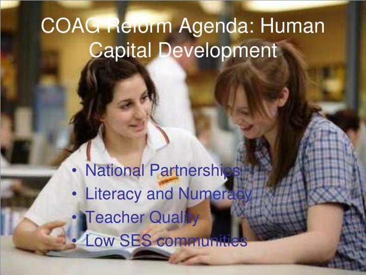 Coag reform agenda human capital development