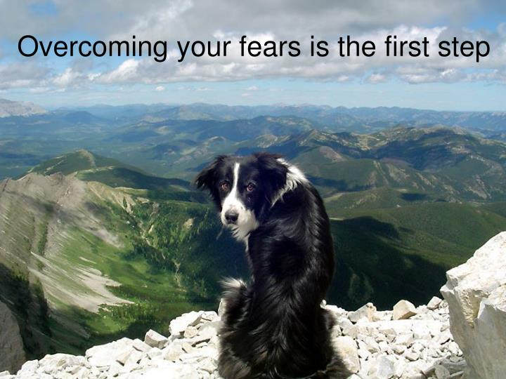Overcoming your fears is the first step