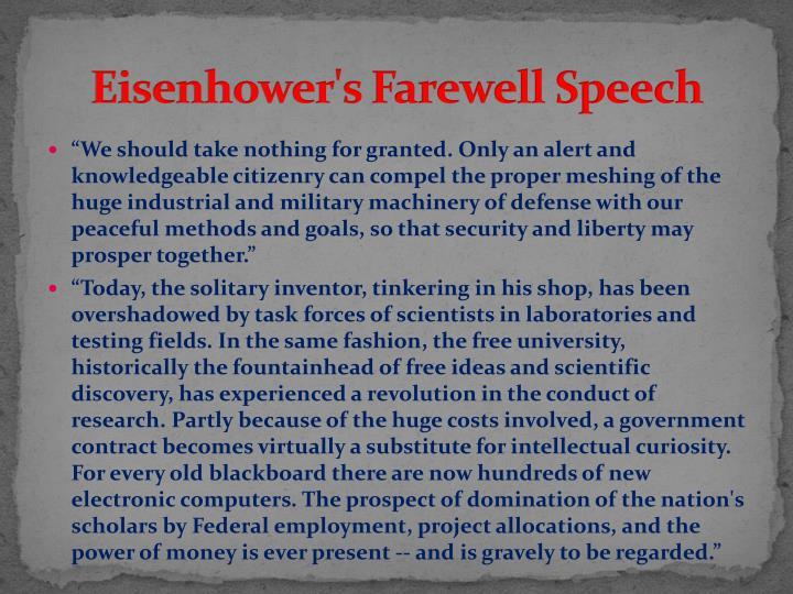 Eisenhower's Farewell Speech