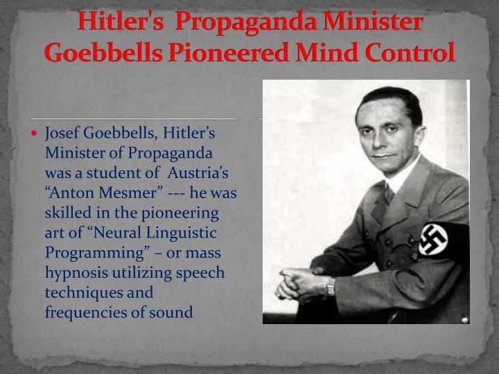 Hitler's  Propaganda Minister