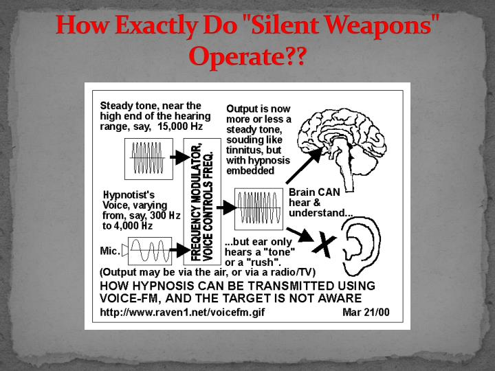 "How Exactly Do ""Silent Weapons"" Operate??"
