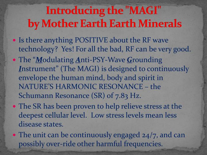 "Introducing the ""MAGI"""