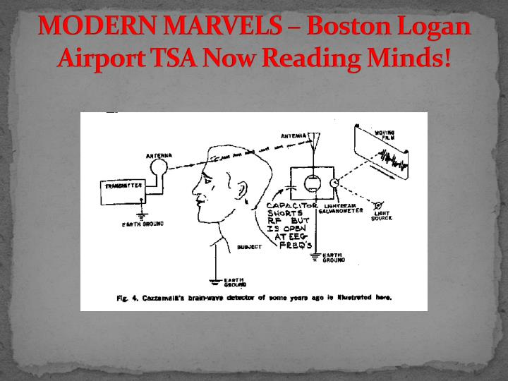 MODERN MARVELS – Boston Logan Airport TSA Now Reading Minds!