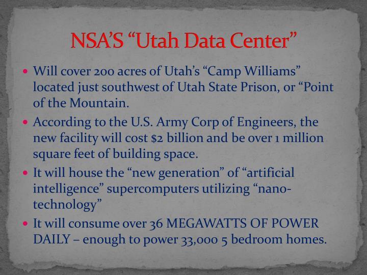 """NSA'S """"Utah Data Center"""""""