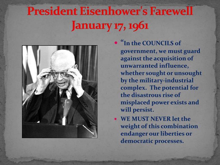 President Eisenhower's Farewell
