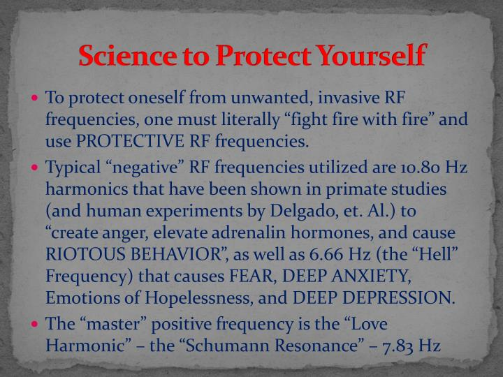Science to Protect Yourself
