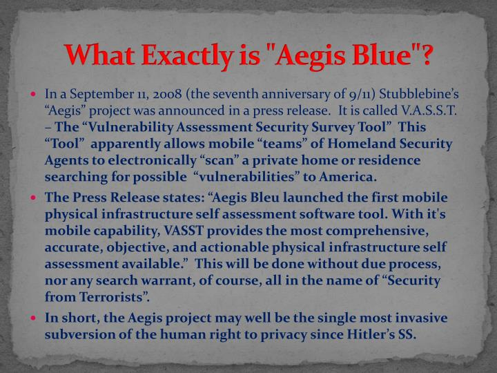 "What Exactly is ""Aegis Blue""?"