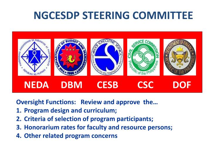 NGCESDP STEERING COMMITTEE