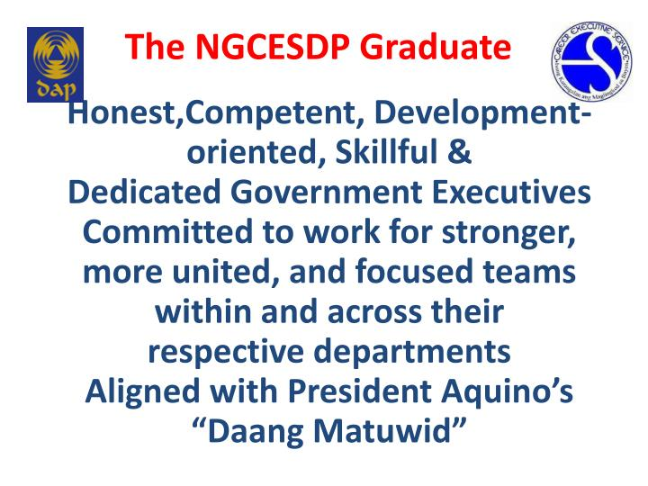 The NGCESDP Graduate