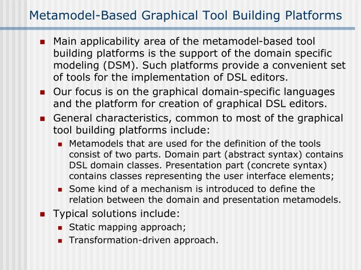 Metamodel-Based Graphical Tool Building Platforms