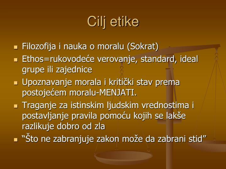 Cilj etike