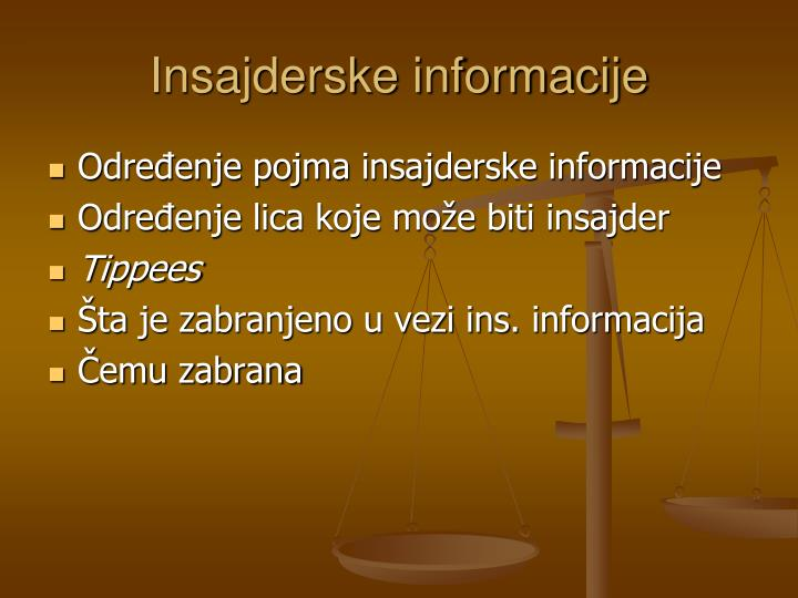 Insajderske informacije